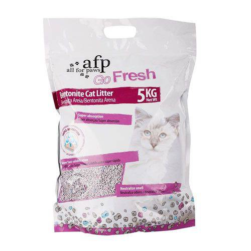 Assistência Técnica, SAC e Garantia do produto Areia Sanitária para Gatos Bentonite Go Fresh - All For Paws 5kg