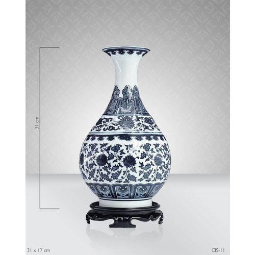 Assistência Técnica, SAC e Garantia do produto Vaso Porcelana Azul e Branco Ii