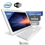 Assistência Técnica e Garantia do produto Computador All In One 19.5 Intel Quad Core 4GB 500GB Wifi Webcam Alto Falante 3green