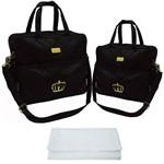 Assistência Técnica e Garantia do produto Kit Bolsa Bebê Maternidade Preta Trocador B2W72