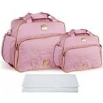 Assistência Técnica e Garantia do produto Kit Bolsa Bebê Maternidade Rosa Trocador B20W03