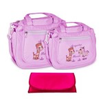 Assistência Técnica e Garantia do produto Kit Bolsa Bebê Maternidade Rosa Trocador B30W01