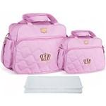 Assistência Técnica e Garantia do produto Kit Bolsa Bebê Maternidade Rosa Trocador B20W05