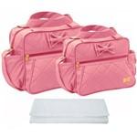 Assistência Técnica e Garantia do produto Kit Bolsa Bebê Maternidade Rosa Trocador B30W08