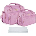 Assistência Técnica e Garantia do produto Kit Bolsa Bebê Maternidade Rosa Trocador B20W12