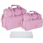 Assistência Técnica e Garantia do produto Kit Bolsa Bebê Maternidade Rosa Trocador B20W10