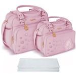 Assistência Técnica e Garantia do produto Kit Bolsa Bebê Maternidade Rosa Trocador B20W11
