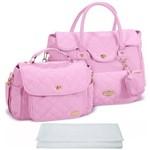 Assistência Técnica e Garantia do produto Kit Bolsa Bebê Maternidade Rosa Trocador B20W14