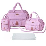 Assistência Técnica e Garantia do produto Kit Bolsa Bebê Maternidade Rosa Trocador B40W02