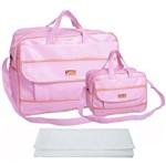 Assistência Técnica e Garantia do produto Kit Bolsa Bebê Maternidade Rosa Trocador B40W04