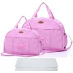 Assistência Técnica e Garantia do produto Kit Bolsa Bebê Maternidade Rosa Trocador B40W05