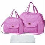 Assistência Técnica e Garantia do produto Kit Bolsa Bebê Maternidade Rosa Trocador B40W06