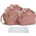 Assistência Técnica e Garantia do produto Kit Bolsa Bebê Maternidade Rosé Trocador B20W13