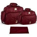 Assistência Técnica e Garantia do produto Kit Bolsa Bebê Maternidade Vinho Trocador B20W03