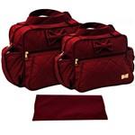 Assistência Técnica e Garantia do produto Kit Bolsa Bebê Maternidade Vinho Trocador B30W08