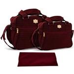 Assistência Técnica e Garantia do produto Kit Bolsa Bebê Maternidade Vinho Trocador B20W13