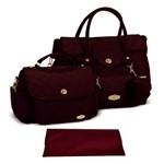 Assistência Técnica e Garantia do produto Kit Bolsa Bebê Maternidade Vinho Trocador B20W14