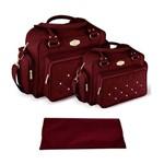 Assistência Técnica e Garantia do produto Kit Bolsa Bebê Maternidade Vinho Trocador B20W12
