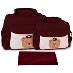 Assistência Técnica e Garantia do produto Kit Bolsa Bebê Maternidade Vinho Trocador B10W07