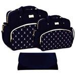 Assistência Técnica e Garantia do produto Kit Bolsa Maternidade Azul Marinho com Trocador Azul Marinho