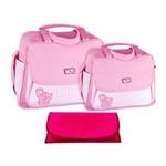 Assistência Técnica e Garantia do produto Kit Bolsa Maternidade Rosa Trocador B20W02