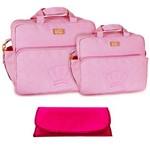 Assistência Técnica e Garantia do produto Kit Bolsa Maternidade Rosa Trocador B20W01
