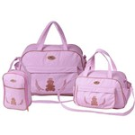 Assistência Técnica e Garantia do produto Kit Bolsa Maternidade Rosa + Trocador Rosa