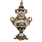 Assistência Técnica e Garantia do produto Potiche em Porcelana Azul e Dourado