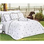 Assistência Técnica e Garantia do produto Roupa de Cama Casal King Kit Mondrean 200 Fios 04 Peças - Branco