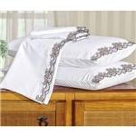 Assistência Técnica e Garantia do produto Roupa de Cama Casal Queen Kit Mondrean 200 Fios 04 Peças - Branco